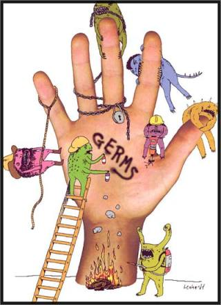 K's hand.