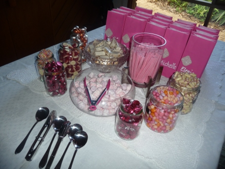The lolly buffet.  Guests fill their bags with whatever they fancy together with their sweet smelling soap from Lush.  Thank you for sharing my special day!