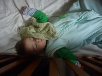 Baby #1 sleeping