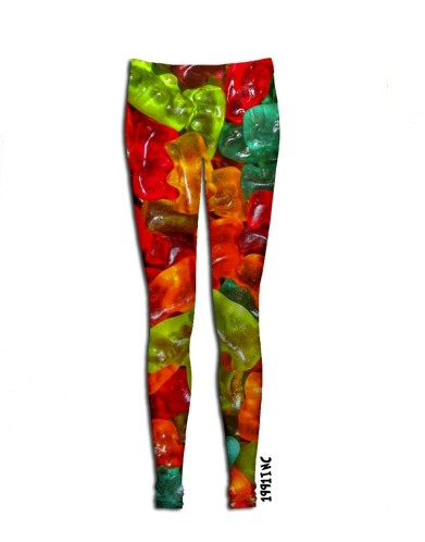 While looking for a picture of a gummy bear I found this - gummy bear leggings.  I think I just found my next date night outfit.