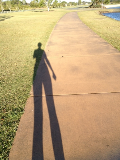 I love how the afternoon sun makes my shadow look long and skinny :)